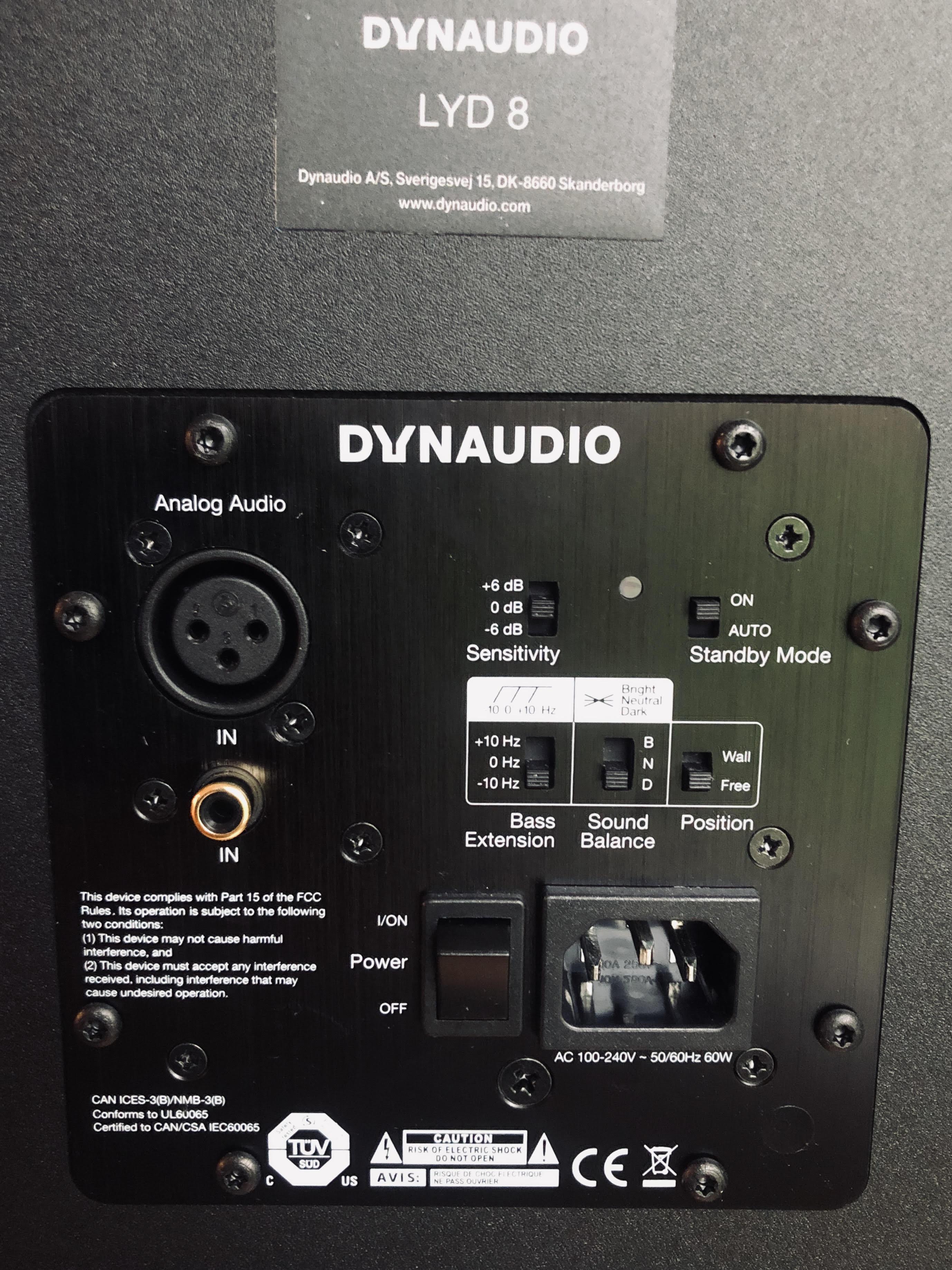 Back of Dynaudio Lyd 8